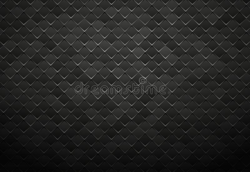 Abstract black metal tile background. Modern style abstract black metal tile background vector illustration