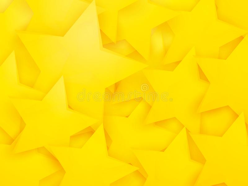 Abstract yellow stars party background. Modern style abstract yellow stars party background royalty free illustration