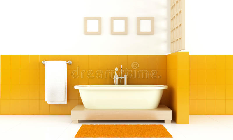 Modern style bathroom royalty free illustration