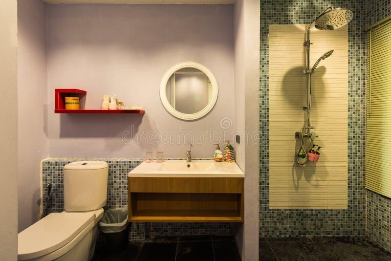 Modern style bathroom royalty free stock image