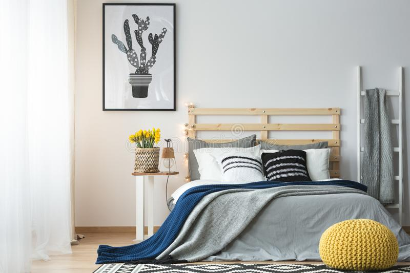 Modern style of bedroom stock images