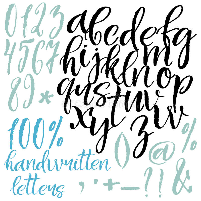 Modern Style Calligraphic Letters Stock Vector Illustration Of
