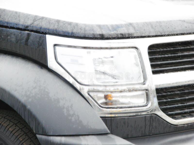 Modern style car lights closeup effect royalty free stock photos