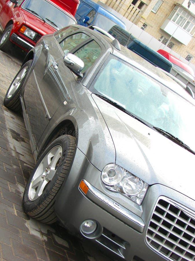 Modern style car side 2 stock photo