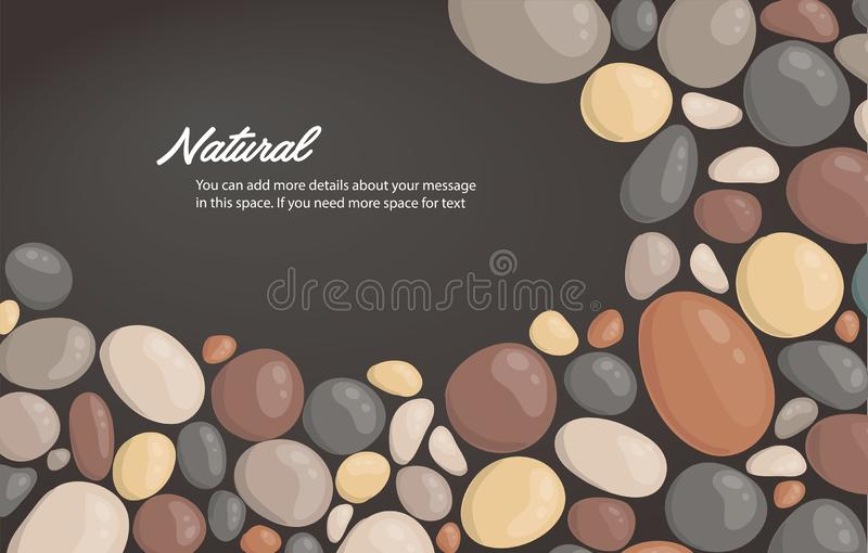 Modern style close up round stone background and space for write wallpaper vector illustration.  vector illustration