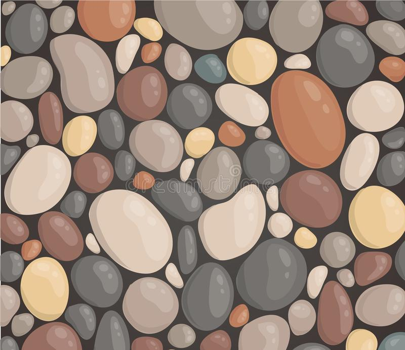 Modern style close up round stone background wallpaper vector illustration vector illustration