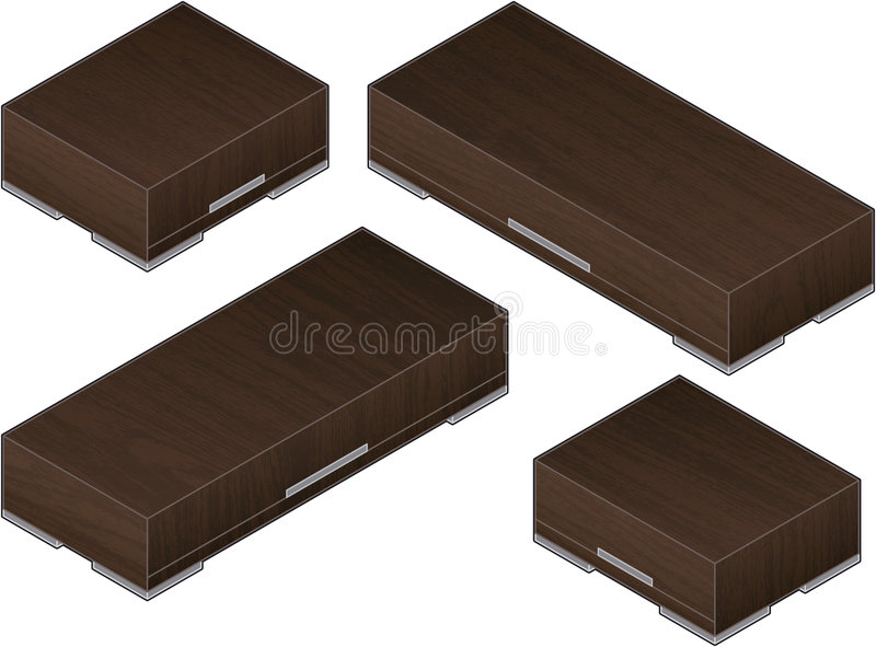 Download Modern Style Large Wooden Clos Stock Vector - Image: 4829731