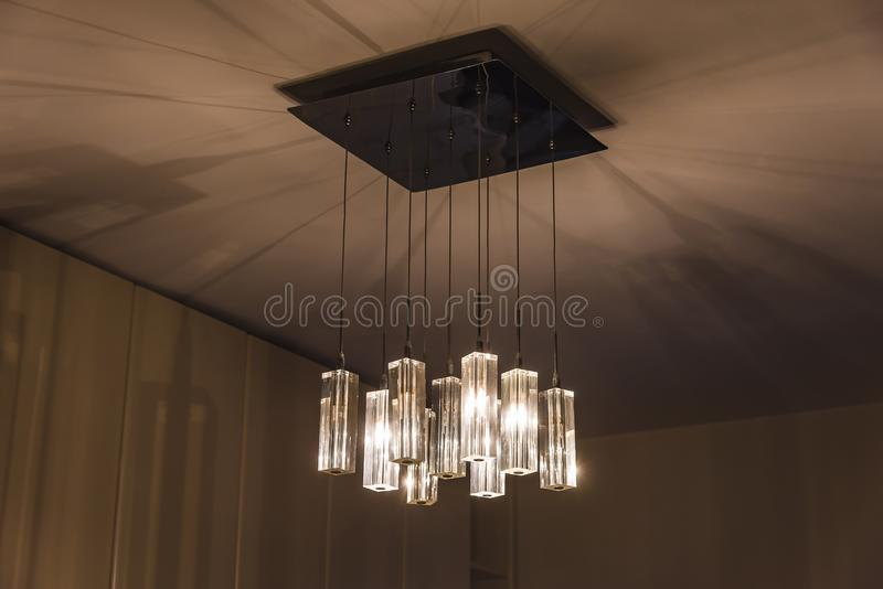 Modern style lighting decor royalty free stock images