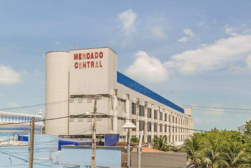 Modern Style Market Building Fortaleza Brazil. FORTALEZA, BRAZIL, DECEMBER - 2015 - Exterior view of modern style market building located in Fortaleza, Brazil stock image
