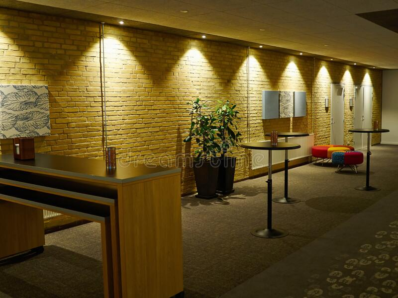 Modern waiting room reception stock photos