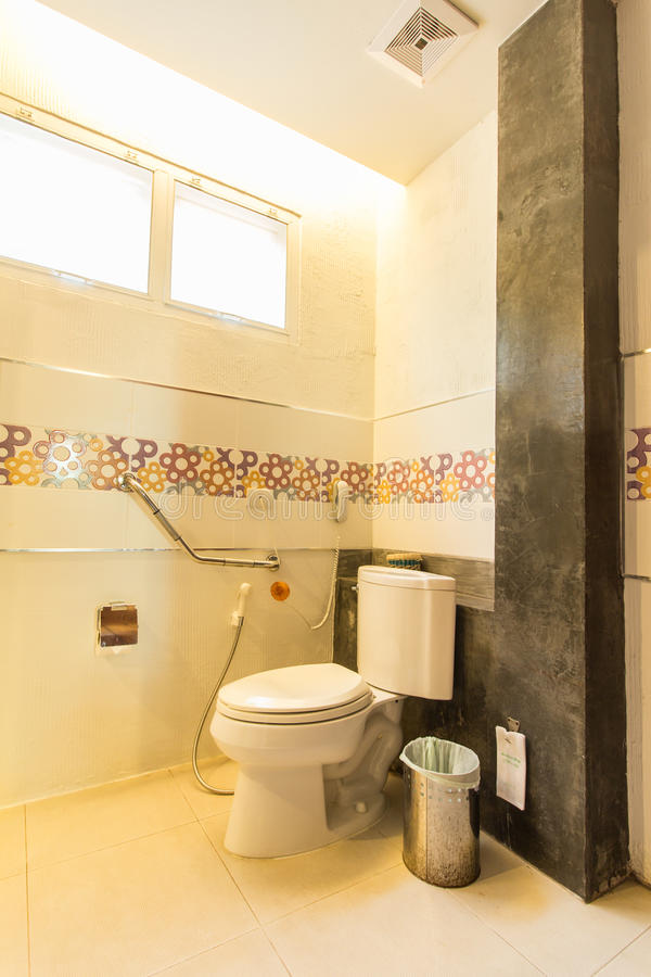 Modern style of toilet royalty free stock photography
