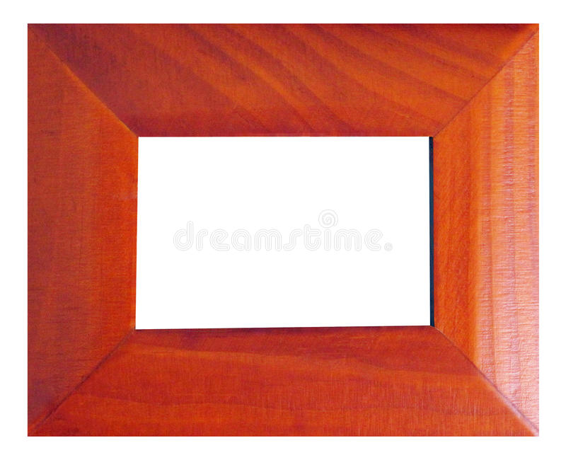 Modern style wooden frame royalty free stock photography