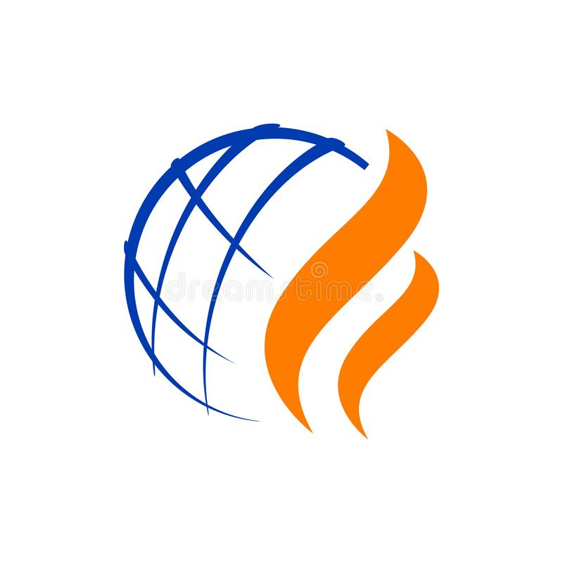 Modern Styled nature Oil gas logo design vector illustrations. Clear, natural, background, abstraction, emblem, eco, blazing, flare, ornament, symbols, heat vector illustration