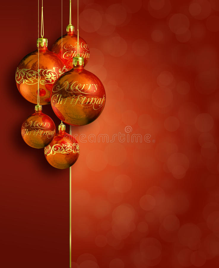 Download Modern Styled Warm Red Christmas Decor. Stock Illustration - Image: 21868590