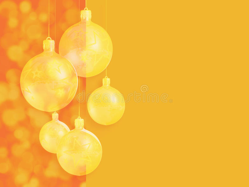 Modern Styled Warm Red Christmas Decor. Stock Photography