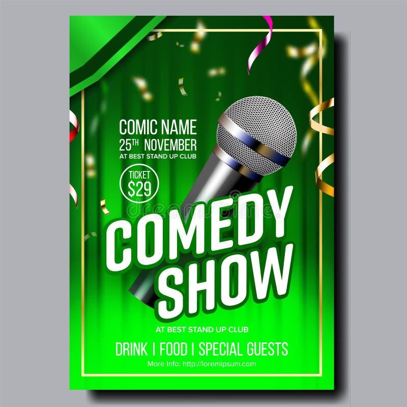 Modern Stylish Banner Flyer Of Comedy Show Vector stock illustration