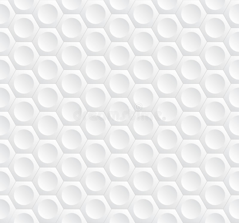 Modern stylish geometric background with volumetric structure of repeating hexagons and circles royalty free illustration