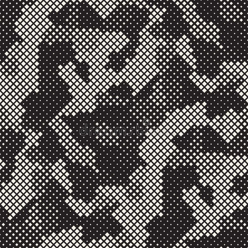 Modern Stylish Halftone Texture. Endless Abstract Background With Random Size Squares. Vector Seamless Squares Mosaic Pattern. Modern Stylish Halftone Texture stock photos
