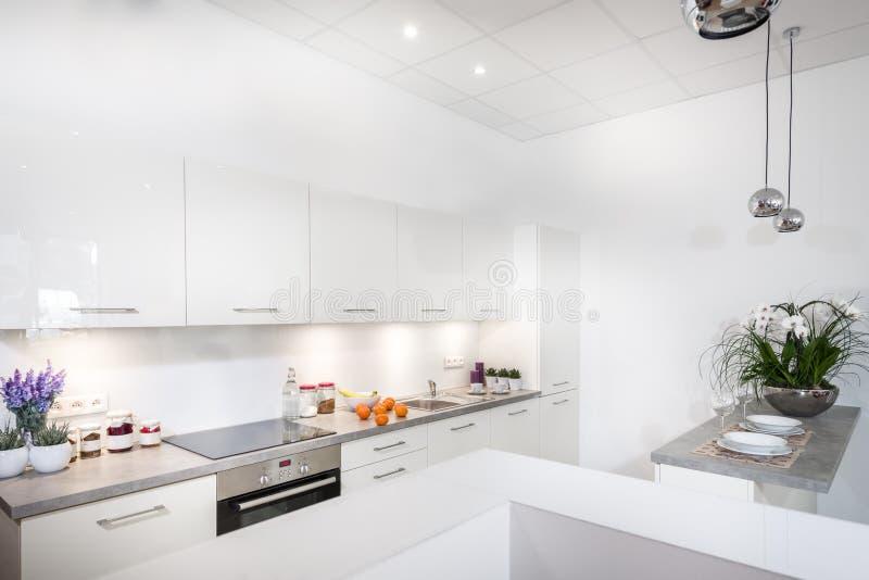 Modern stylish kitchen stock photography