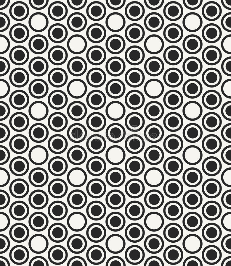 Modern stylish monochrome geometric background with structure of repeating circles. Vector seamless pattern. Modern stylish monochrome geometric background with vector illustration