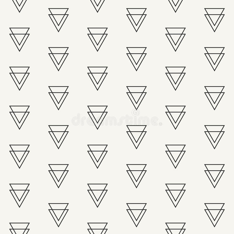 Modern stylish outlined geometric texture with structure of repeated double triangles vector illustration