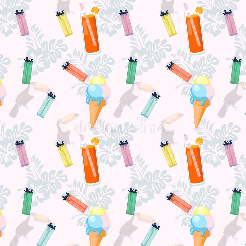 Stylish patterned image with lighters vector illustration