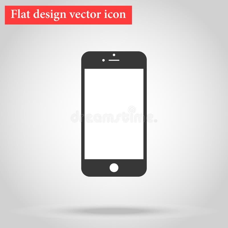 Modern stylish smartphone design of the phone. icon flat design vector illustration