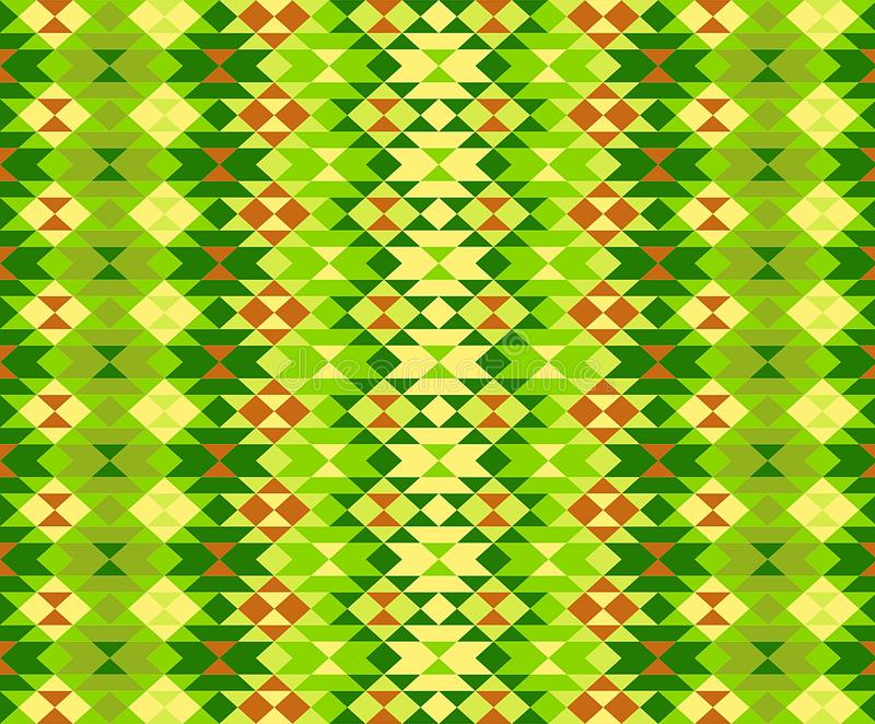 Modern stylish texture . Repeating geometric shapes . Contemporary graphic design. Illustration. Seamless, pattern, yellow, green, theme, favric, plaid, flange royalty free stock image