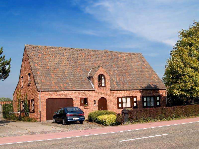 Modern Suburban house. stock photo
