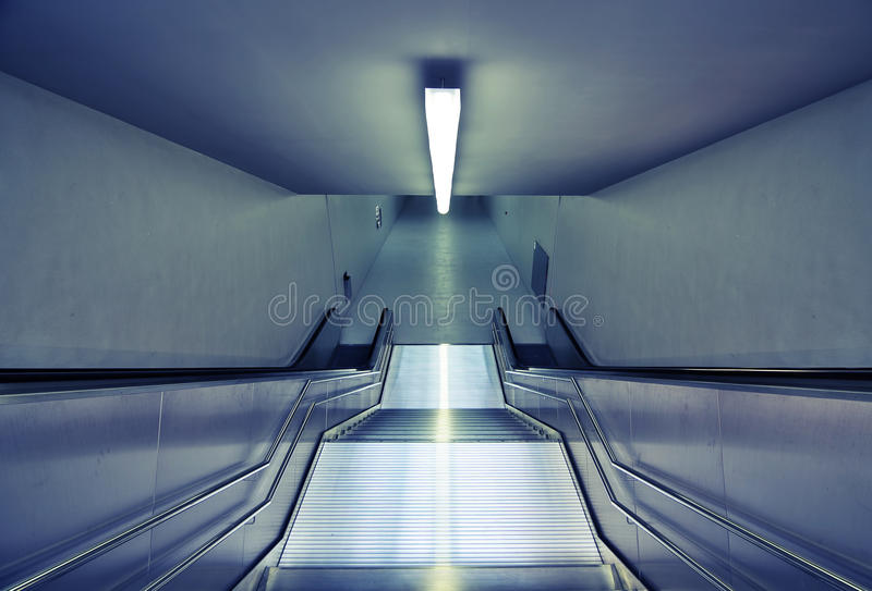 Modern subway stairs royalty free stock images