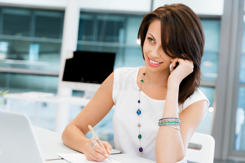 Modern successful business woman royalty free stock photos