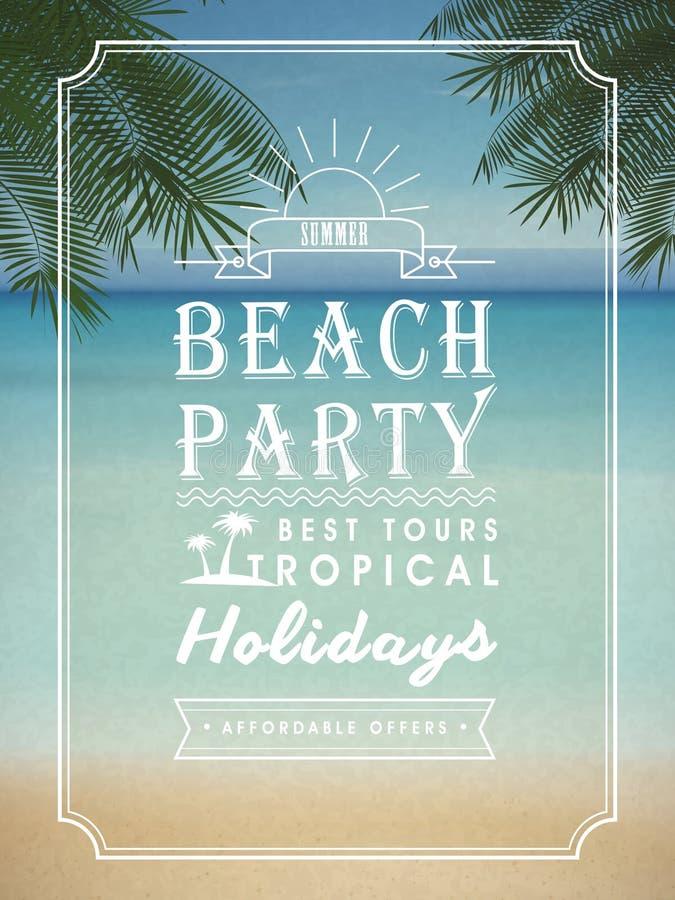 Modern summer beach party poster design vector illustration