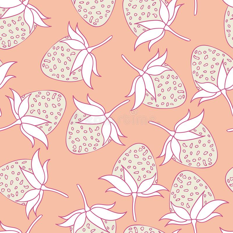 Modern summer strawberry seamless pattern design summer wine collection royalty free stock images