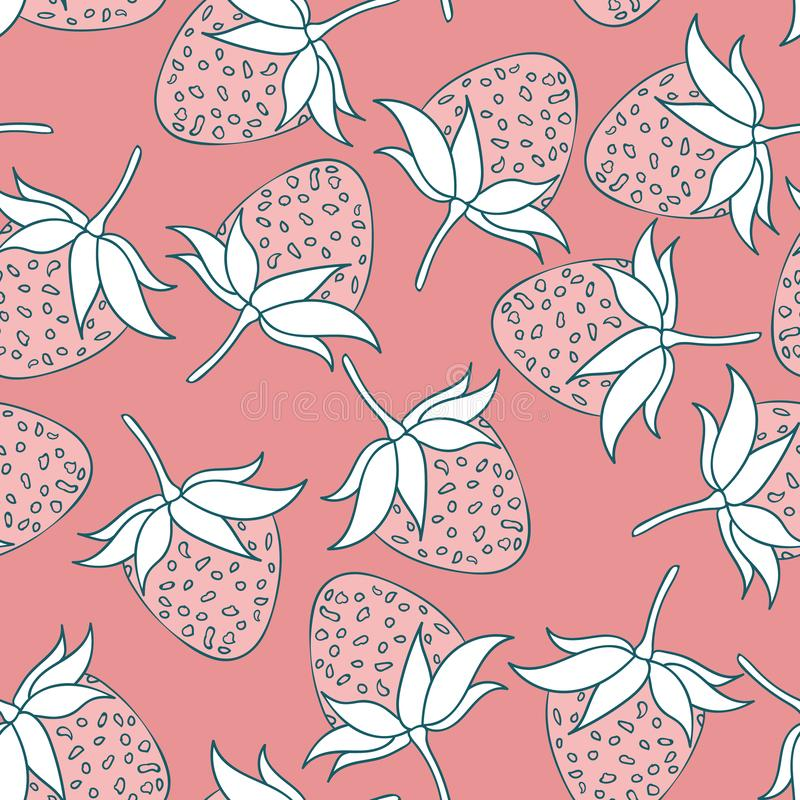 Modern summer strawberry seamless pattern design summer wine collection royalty free stock photos