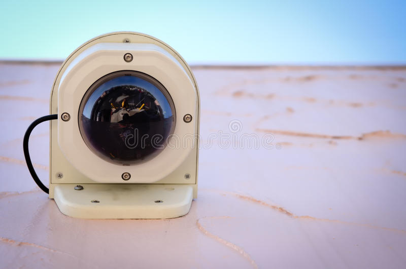 Download Modern Surveillance camera stock photo. Image of degrees - 22854872