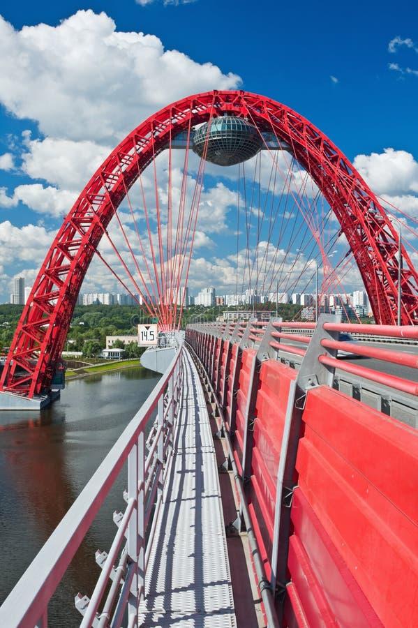 Download Modern suspension bridge stock photo. Image of perspective - 25520706