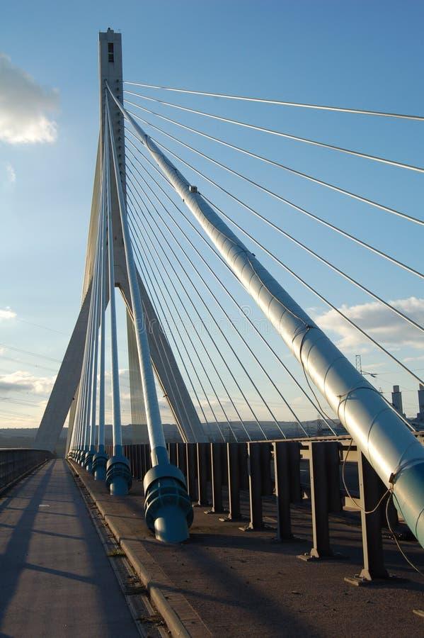 Modern Suspension Bridge Stock Photography