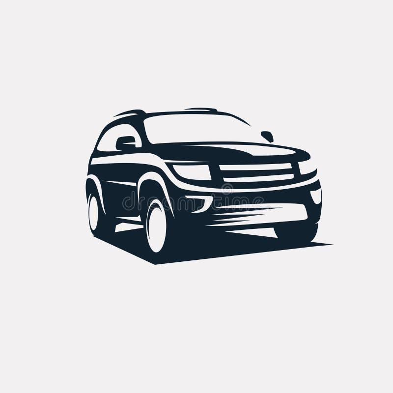 Modern suv logo template stock illustration