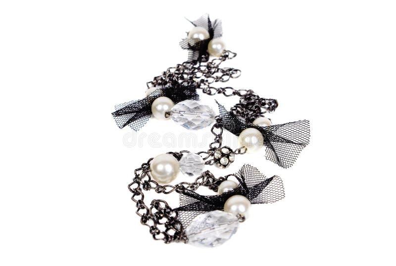 Modern svartvit halsband royaltyfria foton