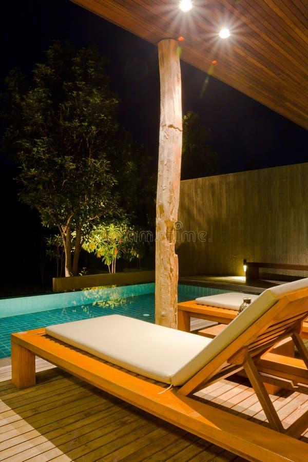Download Modern swimming pool stock image. Image of tree, green - 21978585