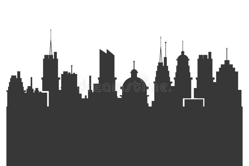 modern symbol för stadshorisontkontur vektor illustrationer