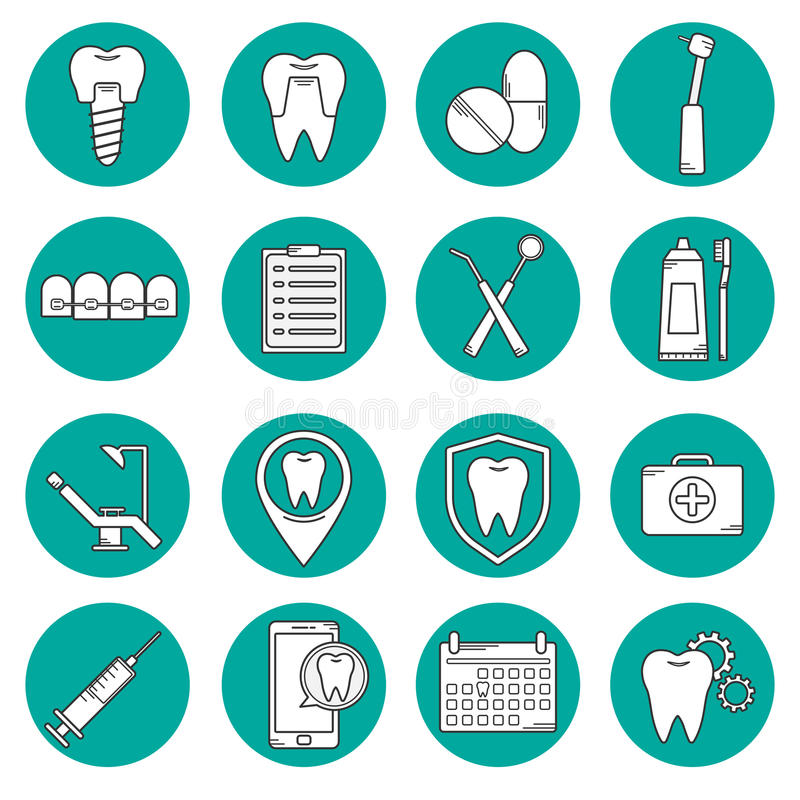 Modern symbol för tand- vektor stock illustrationer