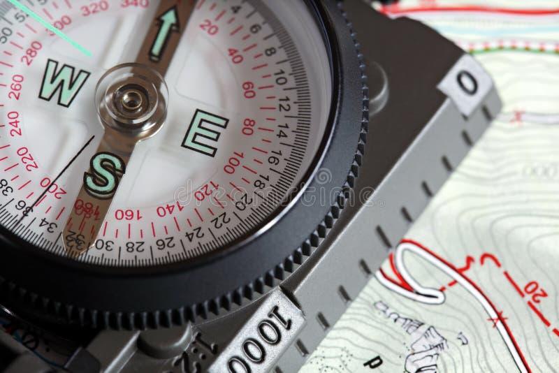 modern syn för kompass royaltyfria foton