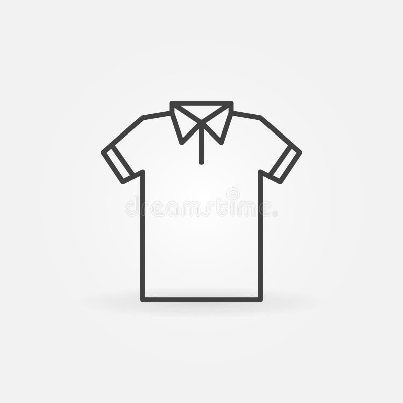 Modern t-skjorta linje symbol Vektortshirtsymbol stock illustrationer