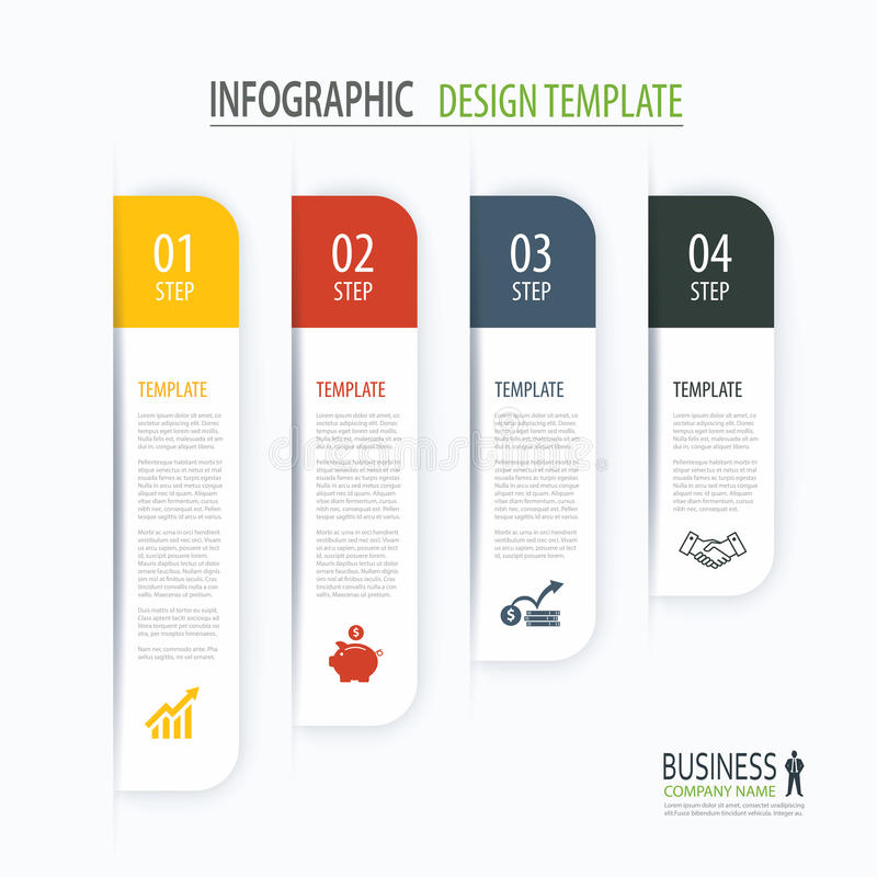Modern Tab Index Infographic Options Template With Paper Sheets ...