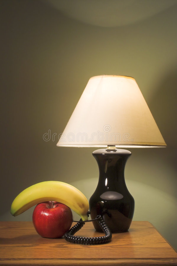 Free Modern Table Lamp And Fruit Royalty Free Stock Image - 2607066