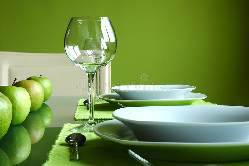 Modern Table Setting royalty free stock images