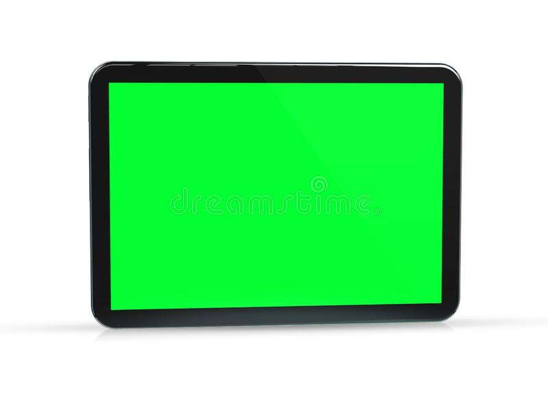 Modern tablet mockup isolated on white 3d rendering stock illustration