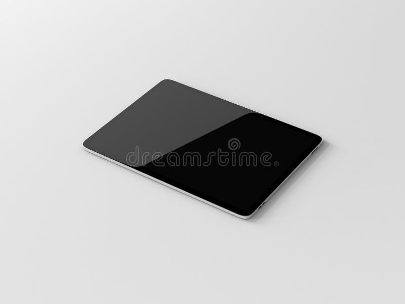 Modern Tablet Mockup on white table stock illustration