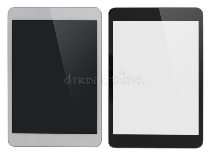 Modern tablet PC similar to ipad isolated with royalty free stock photography